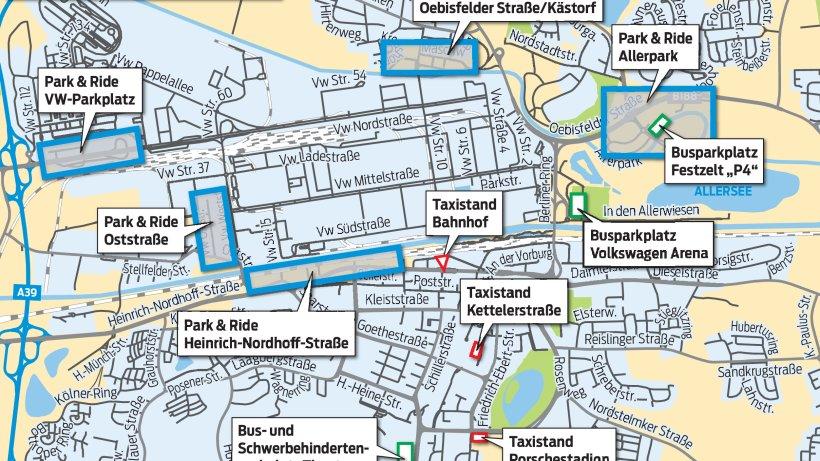Mit dem ShuttleBus geht es gratis zur Festmeile Wolfsburg